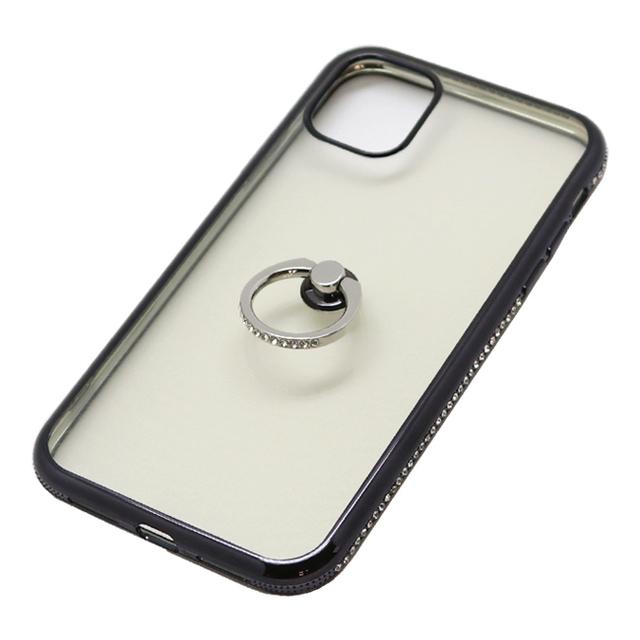 iPhone 11 用 6.1インチ ジャケット リング付き ラインストーン